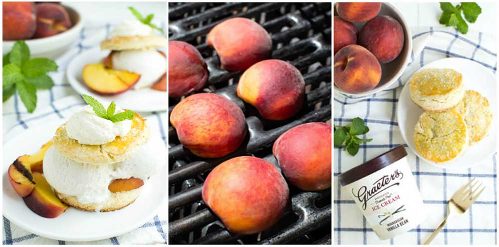 Grilled Peaches and Cream Shortcake