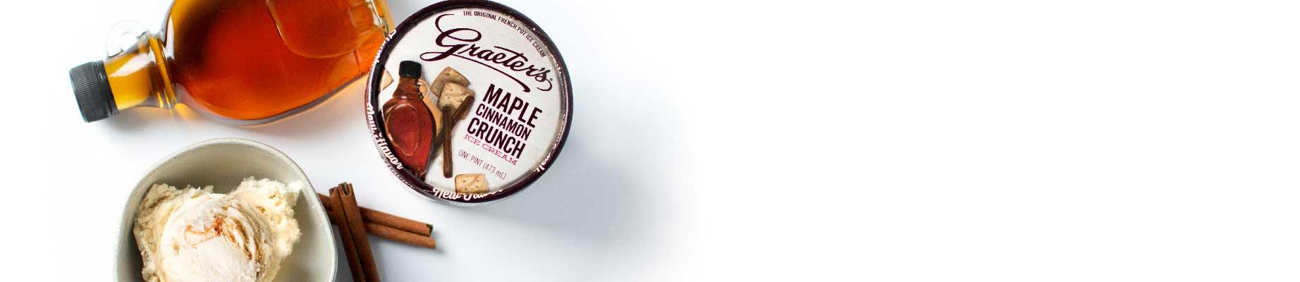 Graeter's New Flavor, Maple Cinnamon Crunch