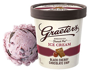 Graeter's Black Cherry Chocolate Chip Ice Cream