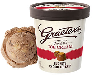 Graeter's Buckeye Chocolate Chip Ice Cream