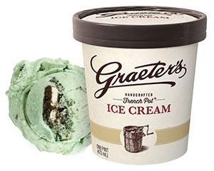 Graeter's Mint Cookies and Cream Ice Cream