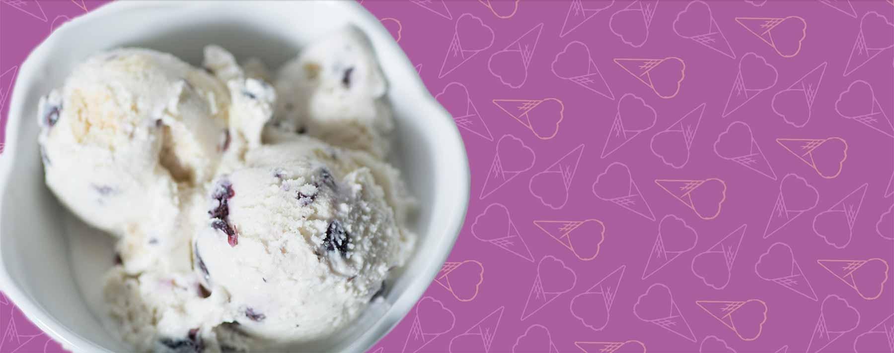 Elena's Blueberry Pie Ice Cream