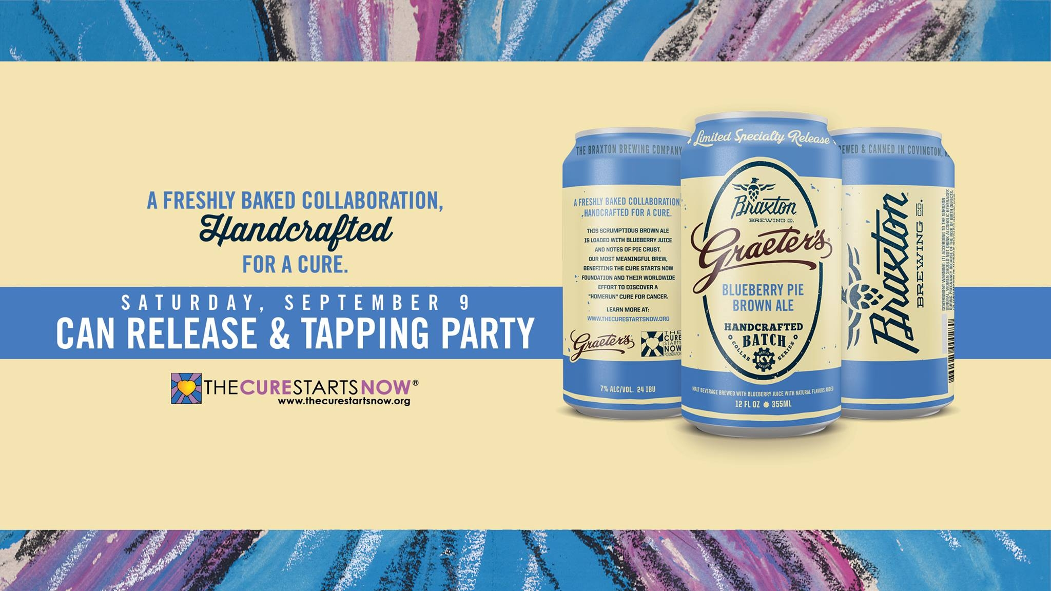 Graeter's and Braxton Brewing Collaboration for The Cure Starts Now