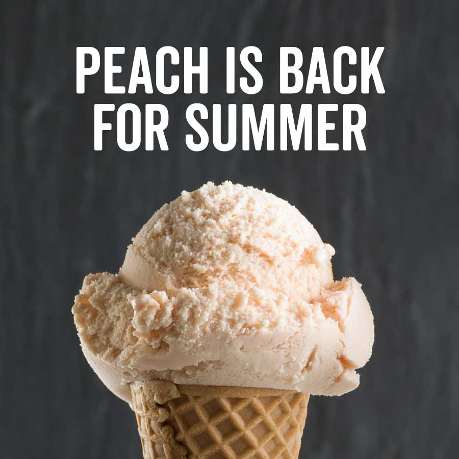 Graeter's Peach Ice Cream