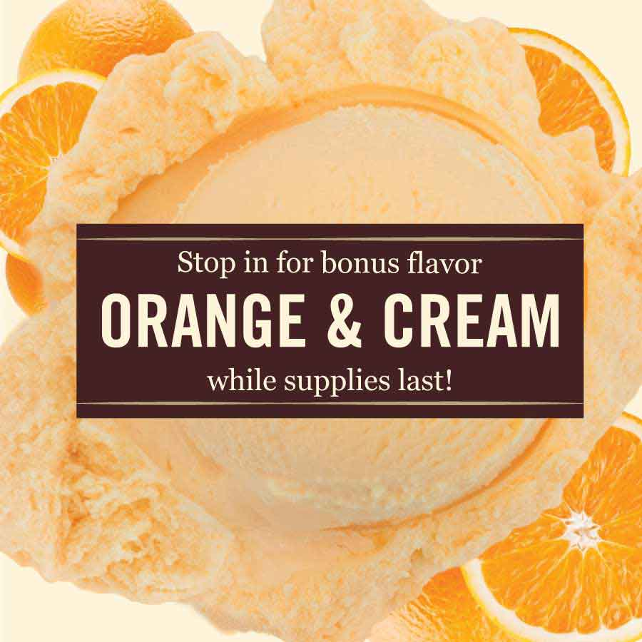 Summer Bonus Flavor, Orange and Cream